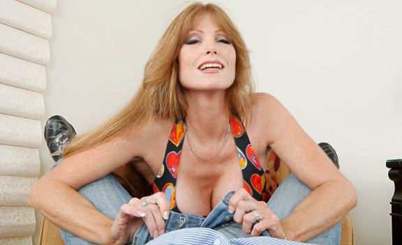 Wife Darla Crane fucking in the bedroom with her tits - Sex Position #2