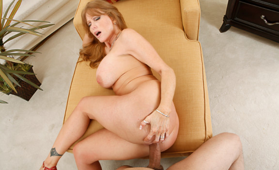 Wife Darla Crane fucking in the bedroom with her tits - Sex Position #11