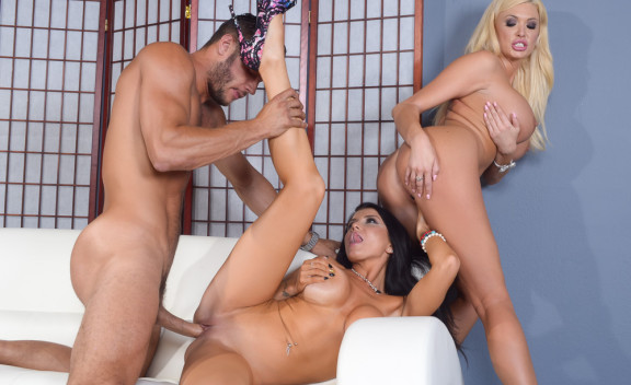 Romi Rain fucking in the living room with her piercings - Sex Position #3