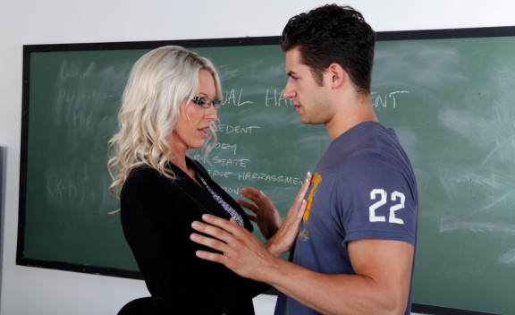 Emma Starr fucking in the classroom with her glasses - Sex Position #2
