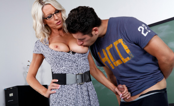 Emma Starr fucking in the classroom with her glasses - Sex Position #3