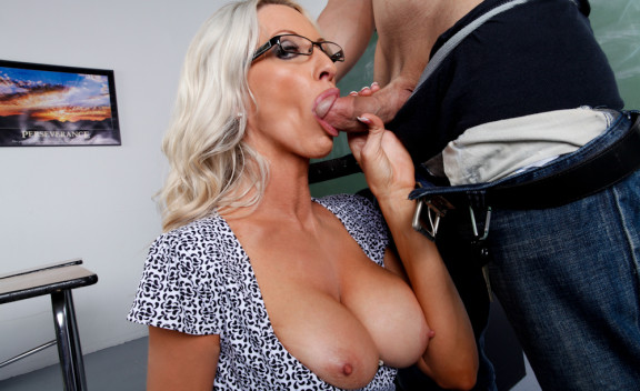 Emma Starr fucking in the classroom with her glasses - Sex Position #5