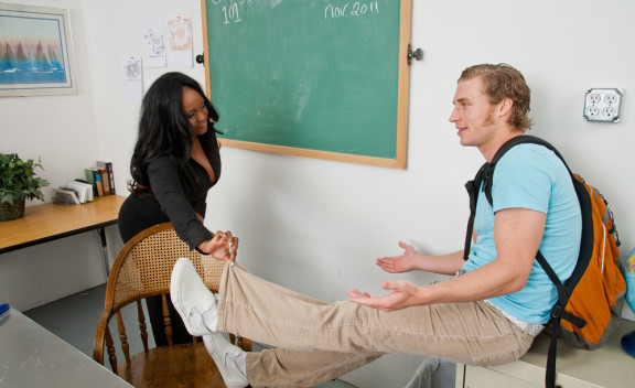 Jada Fire fucking in the classroom with her piercings - Sex Position #2
