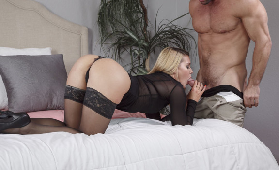Abby Cross fucking in the bed with her small tits - Sex Position #2
