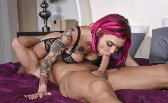 Anna Bell Peaks fucking in the bedroom with her bubble butt - Sex Position #2