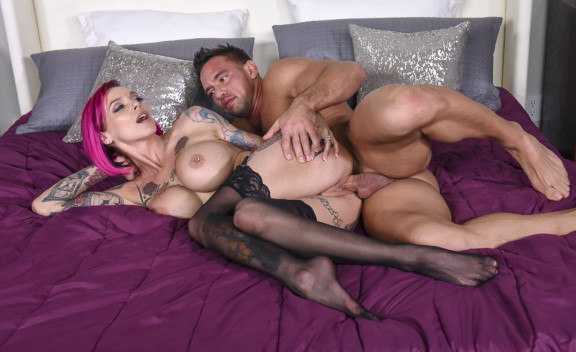 Anna Bell Peaks fucking in the bedroom with her bubble butt - Sex Position #3