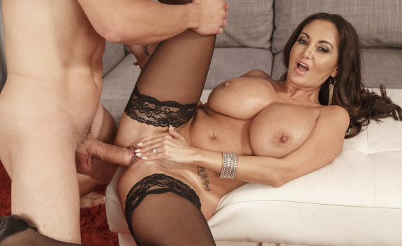 Ava Addams fucking in the couch with her medium ass - Sex Position #6
