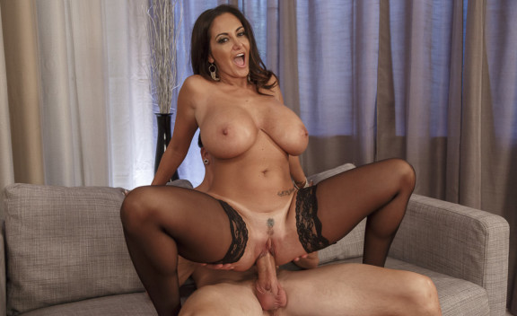Ava Addams fucking in the couch with her medium ass - Sex Position #10