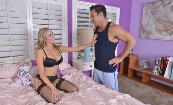 Trainer Brett Rossi fucking in the bedroom with her tits - Sex Position #1
