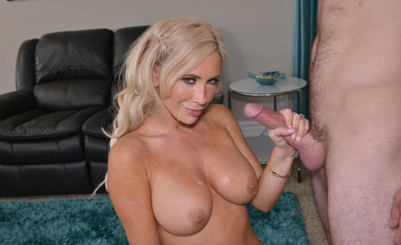 Tasha Reign fucking in the living room with her big tits - Sex Position #1
