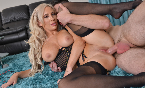 Tasha Reign fucking in the living room with her big tits - Sex Position #4