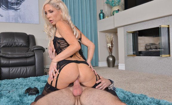 Tasha Reign fucking in the living room with her big tits - Sex Position #9