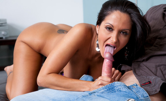 Friend Ava Addams fucking in the couch with her natural tits - Sex Position #3