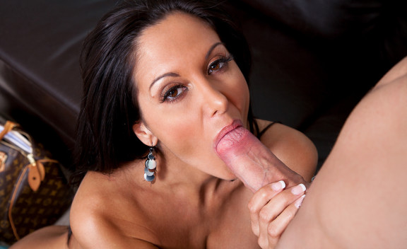 Friend Ava Addams fucking in the couch with her natural tits - Sex Position #5