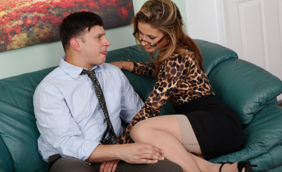 Boss Sheena Shaw fucking in the office with her piercings - Sex Position #3