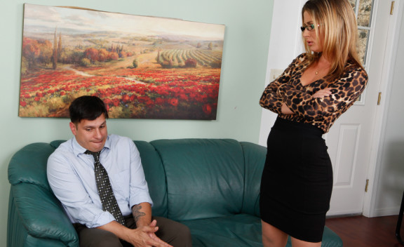 Boss Sheena Shaw fucking in the office with her piercings - Sex Position #12