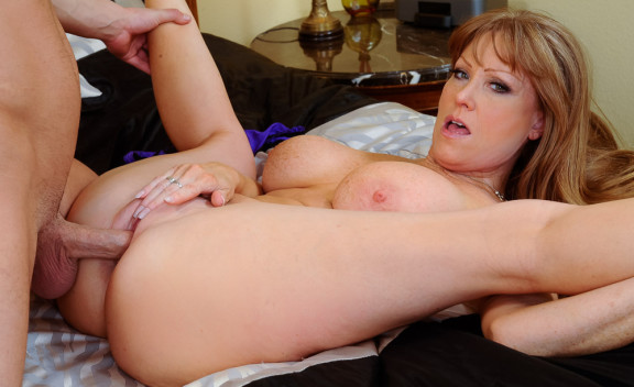 Cougar Darla Crane fucking in the bed with her big tits - Sex Position #7